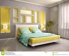 da letto gialla illustrazione 3d dell interno moderno della da