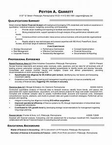 Venture Capital Resume Sample Financial Analyst Resume Sample Monster Com