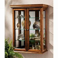 wall mount curio cabinet hanging shelves living dining