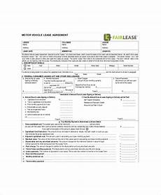 Auto Lease Agreement Blank Lease Template 6 Free Word Pdf Documents