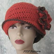crochet hat womens crochet hat pattern with flower by kalliedesigns