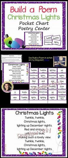 Pocket Chart Poems For Kindergarten Build A Poem Christmas Lights Pocket Chart Poetry