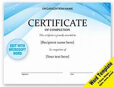 Free Online Certificate Templates For Word Certificate Editable Word Template Printable Instant