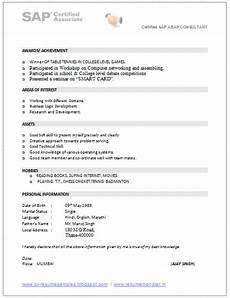 Sap Consultant Resume Over 10000 Cv And Resume Samples With Free Download Sap