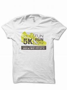 5k Race Shirt Designs Logo Postcard T Shirt Design Hcc 5k Fun Run By Stacey
