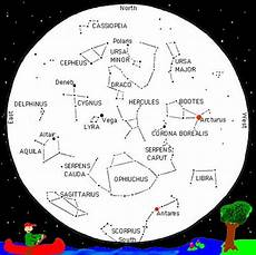 Constelations Charts Seasonal Sky Chart For The