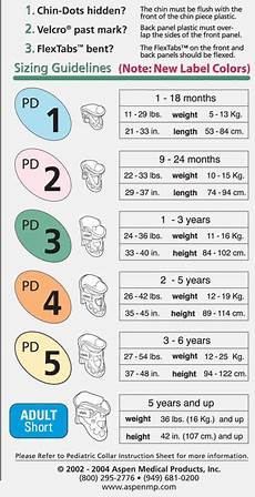 Cervical Collar Size Chart Aspen Pediatric Cervical Collar Dme Direct