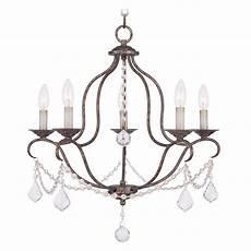 Livex Lighting Chandelier Livex Lighting Chesterfield Venetian Golden Bronze Crystal