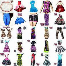 high clothes for photos 50 pcs bulk of high and after high doll