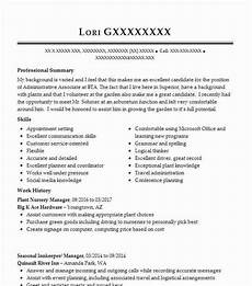 Plant Manager Resume Plant Nursery Manager Resume Example The Plant Place