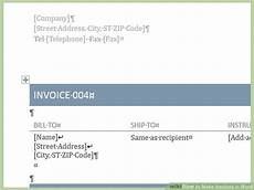 How To Create An Invoice Template In Word How To Make Invoices In Word 12 Steps With Pictures