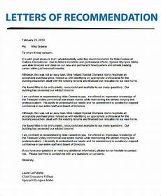 Real Estate Reference Letter Sample Free 9 Letter Of Recommendation Samples In Ms Word Pdf