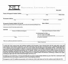 What Does A Letter Of Intent Look Like Sample National Letter Of Intent 9 Free Documents In