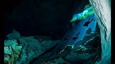 cave diving in the cenotes of the yucatan peninsula mexico