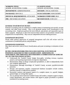 Job Description For Accounting Clerk Free 13 Sample Accounting Clerk Job Description Templates