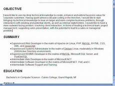 How To Write A Good Career Objective Creating A Great Resume Part 2 Objectives Full