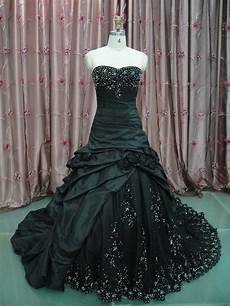 vintage black wedding dress gothic strapless bridal ball