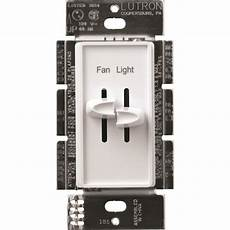 Lutron Fan And Light Switch Lutron 1 5 Amp Single Pole Fan Light Control White At