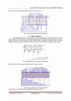 Cmos Comparator Design Project Design Of 8 Bit Comparator Using 45nm Cmos Technology