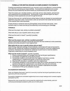 Achievements On Resume Accomplishment Resume Template Free Samples Examples