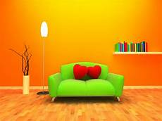 Color Sofa For Living Room 3d Image wallpaper illustration yellow circle orange
