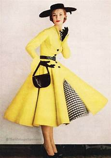 the shapes and lines that defined 1950s fashion