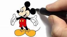 como desenhar o mickey mouse da disney how to draw