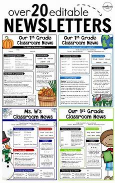 Examples Of Newsletters For Parents From Teachers Editable Newsletter Templates School Newsletter Template