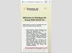 ARIS SARYANTO BERBAGI ILMU: Cara Check In Online Sriwijaya