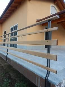 ringhiera esterna ringhiera esterna in ferro e teak acier steel