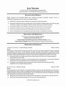Restaurant Resume Restaurant Server Resume Sample Monster Com
