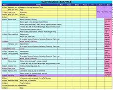 Daily Routine Format 17 Perfect Daily Work Schedule Templates Template Lab
