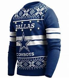 Dallas Cowboys Light Up Dallas Cowboys Official Nfl Big Logo Ugly Light Up Sweater