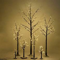 Birch Light Christmas Brown Birch Snow Tree Led Light Warm