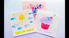 Water Color Cards Diy Easy Watercolor Card Ideas Greeting Cards Making At