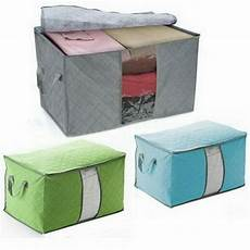 storage box for clothes bamboo charcoal portable clothes blanket large folding bag