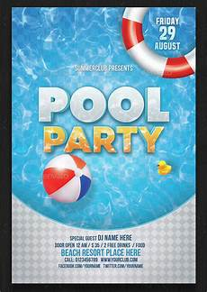 Pool Party Invites Free Printables 33 Printable Pool Party Invitations Psd Ai Eps Word