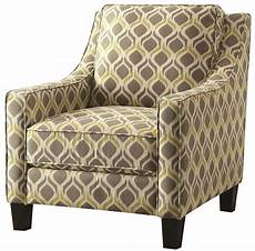 accent chair yellow grey and yellow pattern accent chair from coaster 902428