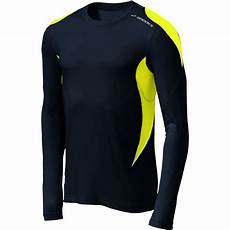 running shirts sleeve equilibrium sleeve running shirt mens black nightlife