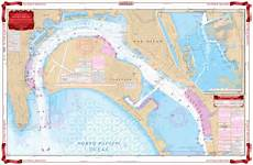 San Diego Bay Depth Chart Coverage Of San Diego And Approaches Navigation Chart 80