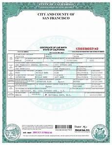 Birth Certificate Fake Template San Francisco Birth Certificate Template Birth