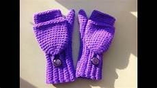 crochet mittens crochet convertible fingerless mittens child size