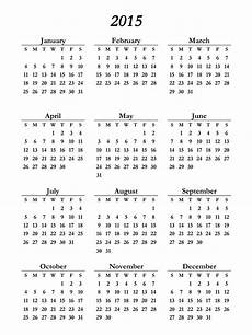 Free Printable Yearly Calendar Templates 2015 Printable 2015 Calendar Pictures Images