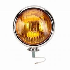 Amber Driving Lights Chrome Vintage Style Fog Light 12 Volt Amber Lens Ebay