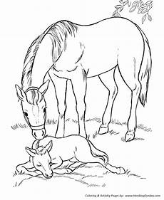 coloring pages printable mare and sleeping