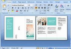 Make A Trifold Brochure In Word Free Brochure Maker Template For Ms Word