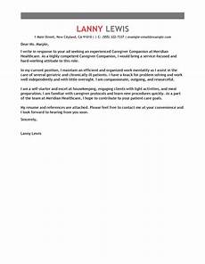 Assisted Living Director Cover Letter Best Caregivers Companions Cover Letter Examples Livecareer