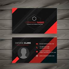 Abstract Coloured Business Card Design Vector Free Download