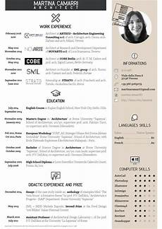 Portfolio Cv Examples Cv Martina Camarri Architetto Cv Design Architect