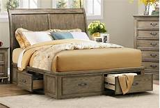 sylvania driftwood cal king platform storage bed from